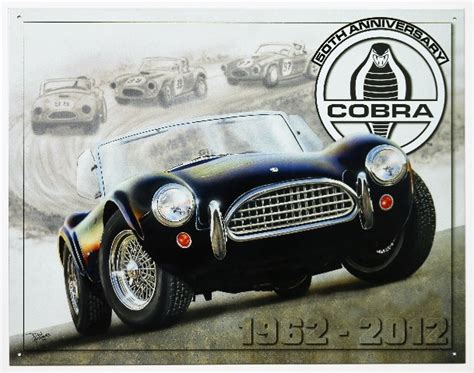 Helm Ink Centro Original Aple Green Limited 50th anniversary shelby cobra tin metal sign roadster rod