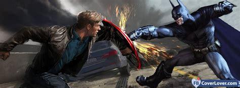 batman fighting captain america comics facebook cover
