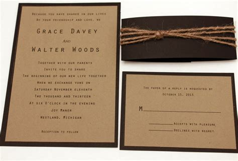 rustic wedding invitation wording vertabox com
