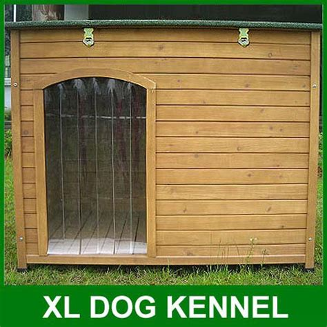 xl dogs large kennel sloped roof wooden kennels xl house pet puppy opening roof