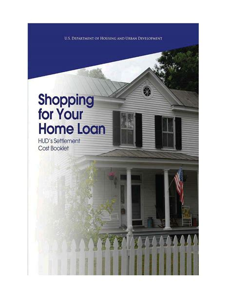 shopping for your home loan hud s settlement cost