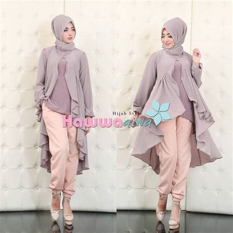 Cardy Warna Ungu jodie set by hawwa aiwa soft ungu
