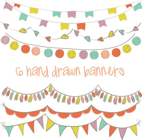 banner design resolution set of 6 high resolution digital colorful hand drawn party