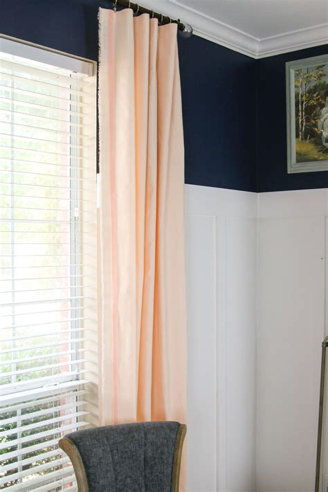 peach drapes one room challenge peach curtains windgate lane