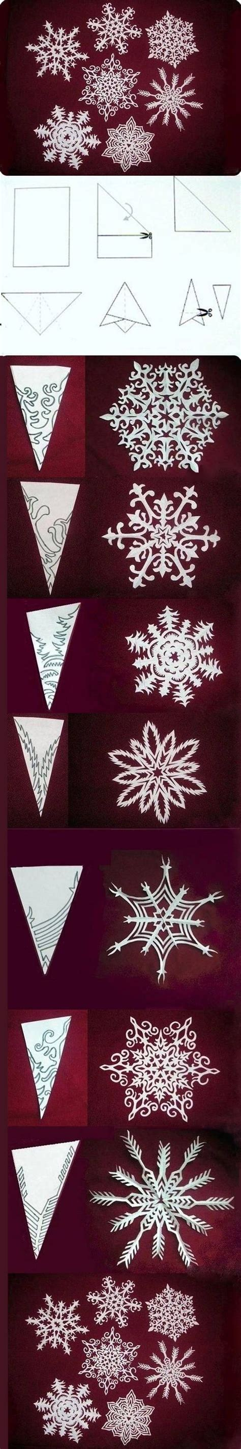 How To Make Pretty Paper Snowflakes - paper snowflake patterns paper snowflake paper snowflake
