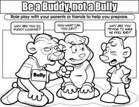 bullying colotring pages