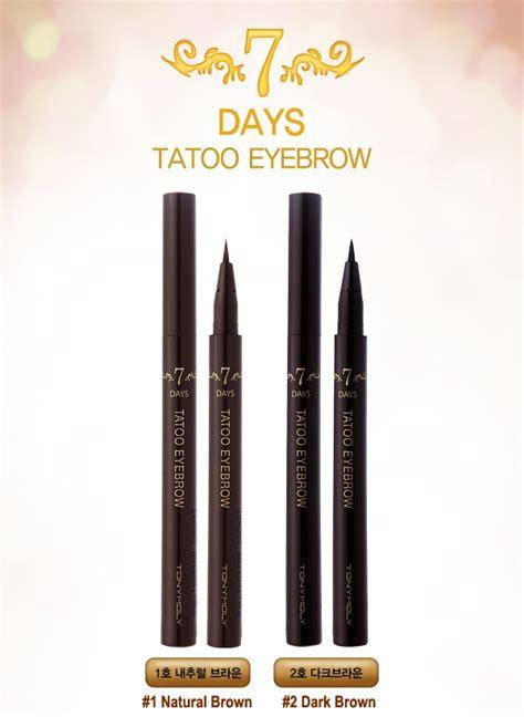temporary tattoo eyebrows uk tony moly 7 days tattoo eyebrow 0 8ml temporary eyebrow