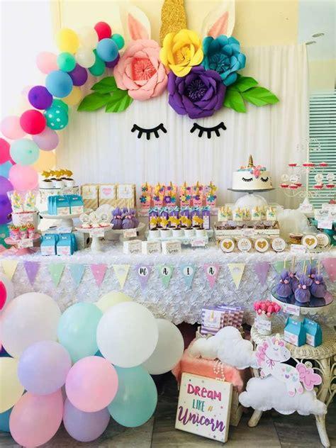 birthday party ideas unicorns party birthday party ideas balloon garland