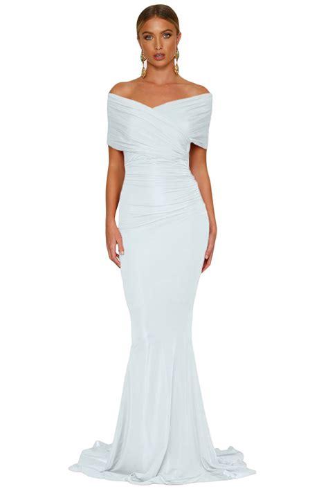 Shoulder Mermaid Dress white shoulder mermaid wedding gown charming wear