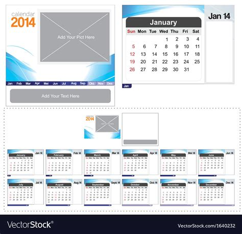 2014 desk calendar template desk calendar template 2014 royalty free vector image