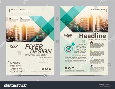 layout design green green brochure layout design template annual stock vector