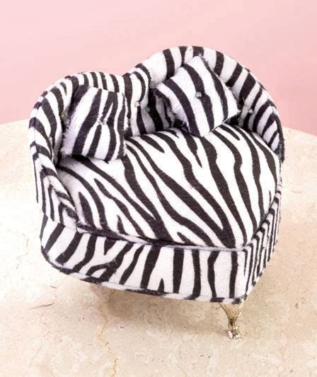 zebra print couch new animal print heart couch jewelry box gift zebra