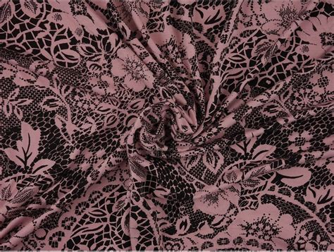 patterned jersey fabric uk printed viscose jersey fabric pink on black