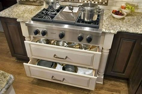 Pots And Pans Drawer by Range Drawer Storage For Pots And Pans Future Home