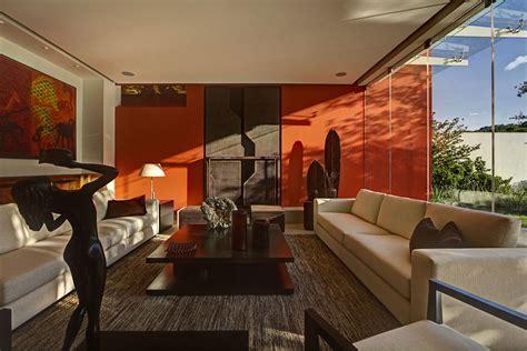Modern Orange Living Room Design by Living Room Orange Wall Coffee Table Sofas Modern