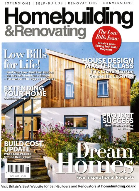 homebuilding magazine front cover of homebuilding magazine