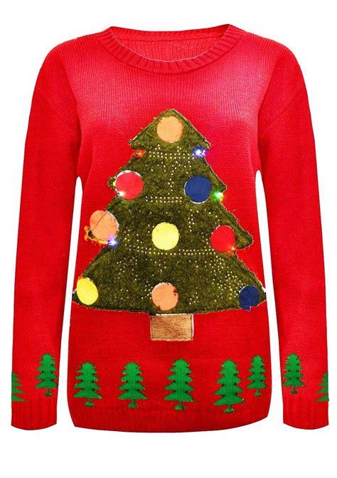 new womens unisex men christmas tree light up rudolph