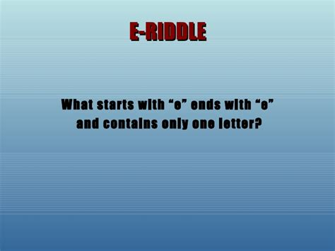 the letter e riddle riddles and puzzles 1659