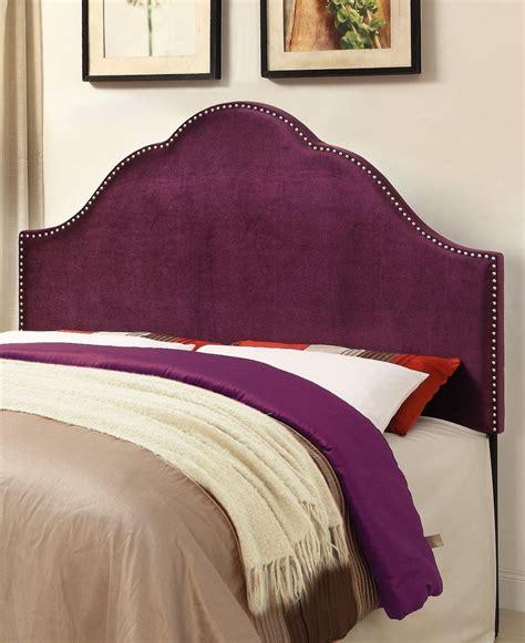 plum headboard glam velvet plum queen upholstered headboard from pulaski