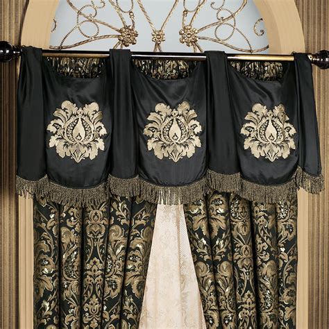 curtains with swag valance imperial damask swag valance and curtains