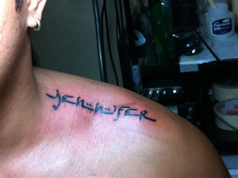 jennifer name tattoo designs shoulder name ideas