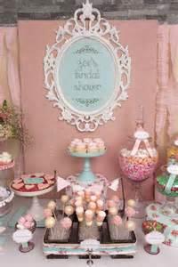 Vintage shabby chic bridal wedding shower party ideas photo 24 of 54