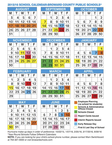 Broward County School Calendar 2014 15 Miami Dade Schedule 2013 2014 Calendar Template 2016