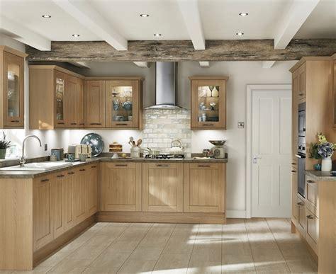 Kitchen Glass Door Cabinets fairford light oak kitchen shaker kitchens howdens joinery