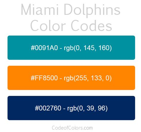 dolphins colors miami dolphins team color codes nfl team colors