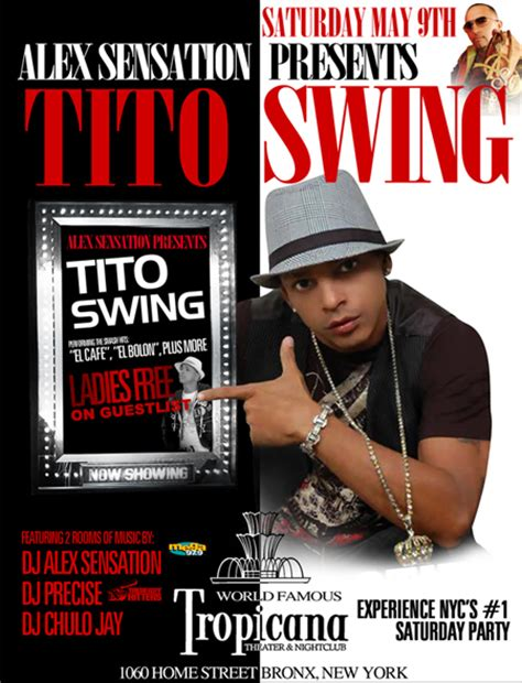 swing live tito swing live at tropicana theater nightclub in new york