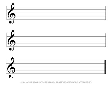 free printable staff paper treble clef staff papers lynne davis music