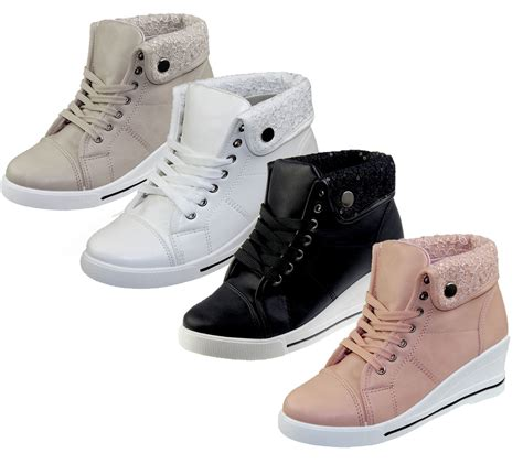 leather sneaker boots womens wedge heel faux leather high top boots ankle