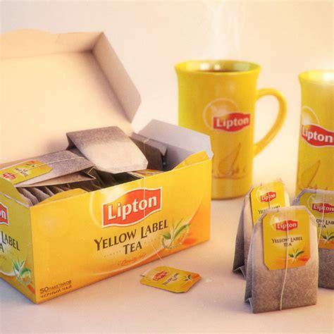 Teh Lipton Di Malaysia 3d model of lipton yellow label tea