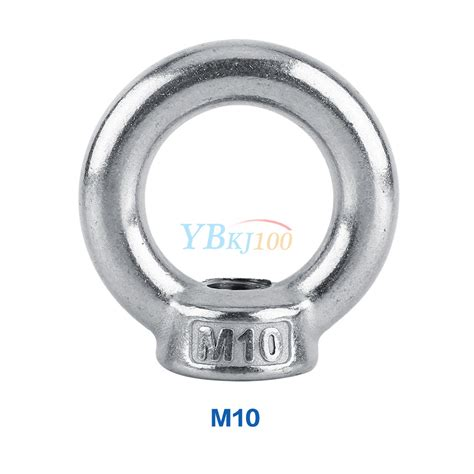m6 m8 m10 m12 m14 m16 304 stainless steel lifting eye nut ring shape nuts highq ebay