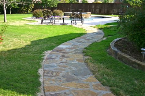 flagstone walkway home and lawn transformers