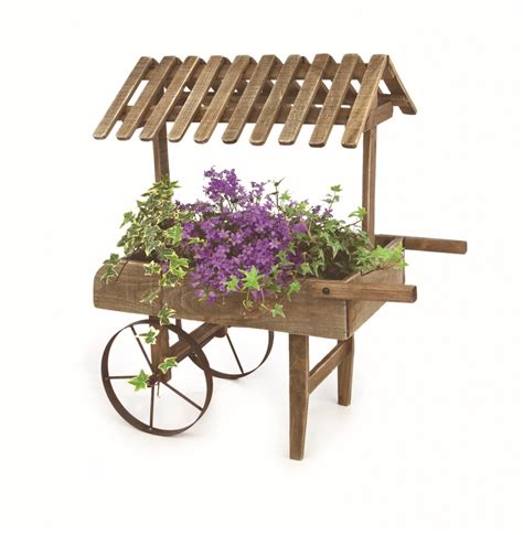 Wooden Cart Planter by Premier Wooden Garden Cart Planter Stax Trade Centres