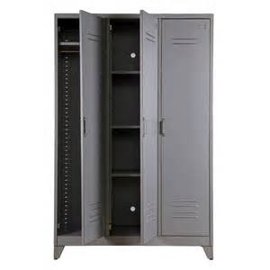 Metal Armoire by Metal Locker Cabinet By Idyll Home Notonthehighstreet