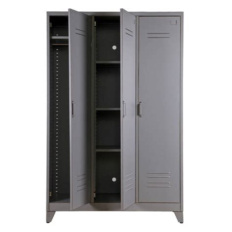 steel armoire metal locker cabinet by idyll home notonthehighstreet com