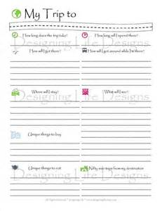 trip diary template vacation travel planner printable pdf sheets my trip to