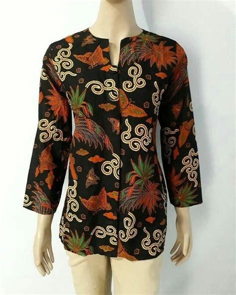 Preloved Atasan Blouse Batik baju batik blouse fashion wanita terbaru batik pekalongan olshop fashion olshop wanita di