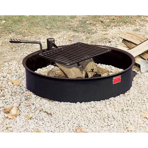 pit ring with grill pit design ideas