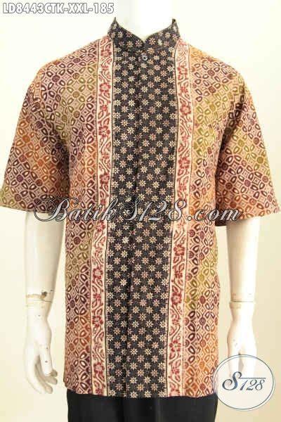 Baju Batik Bahan Katun baju batik pria gemuk bahan katun model koko kerah