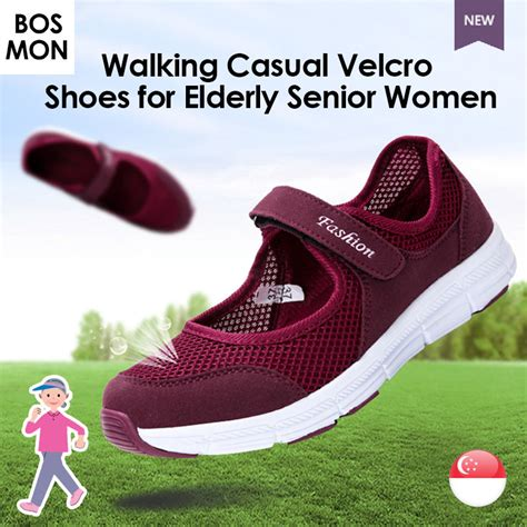 shoes for elderly walking casual velcro slip on shoes for elderly senior