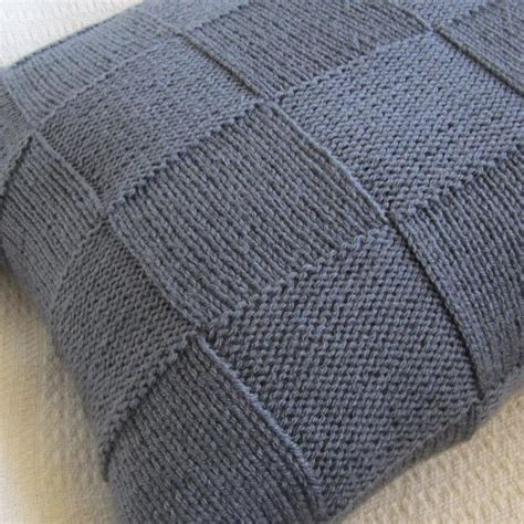easy knit cushion cover simple squares 20x20 pillow cover patterns pillow