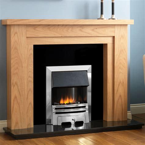 Fireplace Oak by Pureglow Hanley Oak Fireplace Flames Co Uk