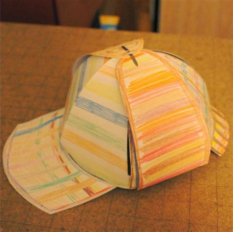 sherlock paper deerstalker hat template on behance