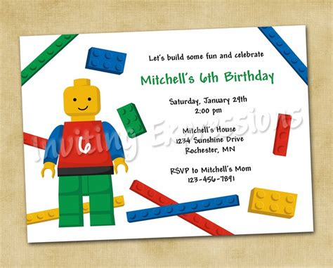 boy lego birthday card template word 17 best images about lego duplo on