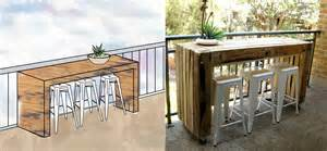 custom balcony table made of pallets ecocentric