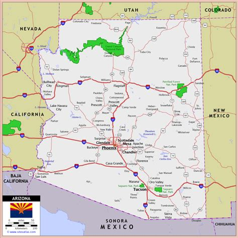 map world az road map of arizona arizona map