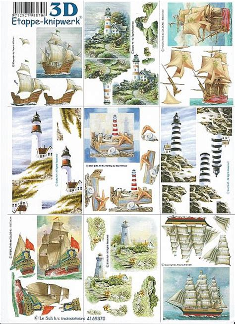 Le Suh Decoupage - le suh 3d decoupage 9 nautical designs virgo craftsvirgo